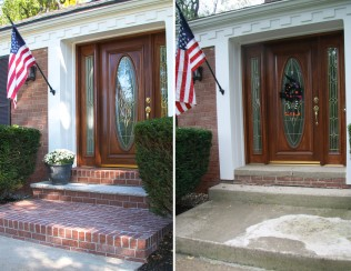 Royal Thin Brick changed the look of this front porch