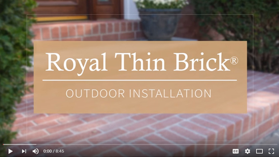 Royal Thin Brick Outdoor Installation Video